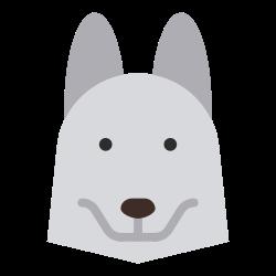 zoo, pet, fauna, carnivore, husky dog, animal, cartoon icon icon